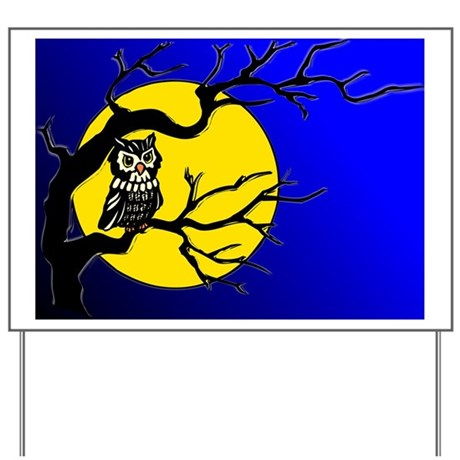 Harvest Moon Owl Yard Sign