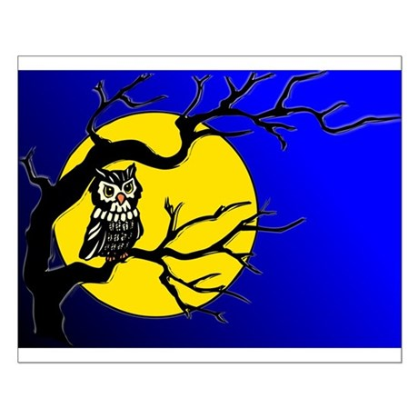 Harvest Moon Owl Small Poster
