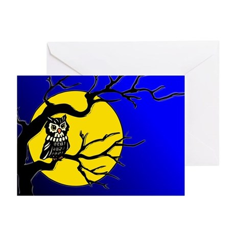 Harvest Moon Owl Greeting Cards (Pk of 10)