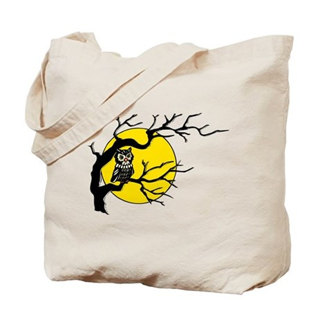 Harvest Moon Owl Tote Bag