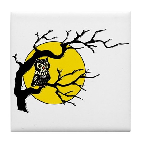Harvest Moon Owl Tile Coaster