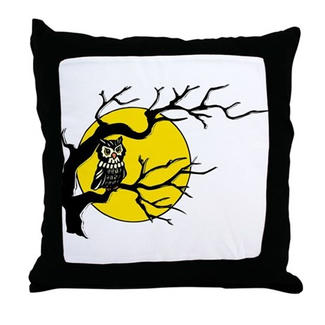 Harvest Moon Owl Throw Pillow