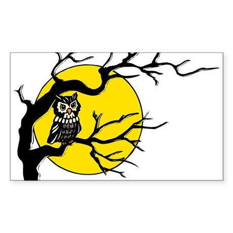 Harvest Moon Owl Rectangle Sticker 50 pk)