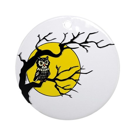 Harvest Moon Owl Ornament (Round)