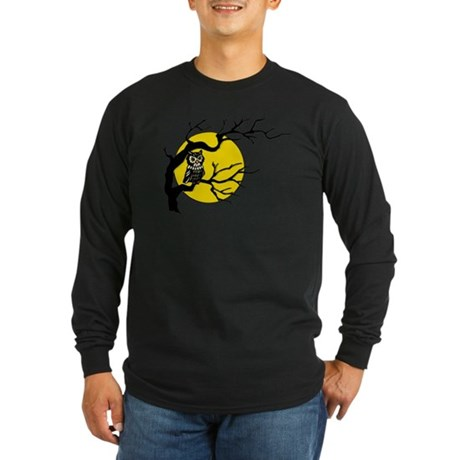Harvest Moon Owl Long Sleeve Dark T-Shirt