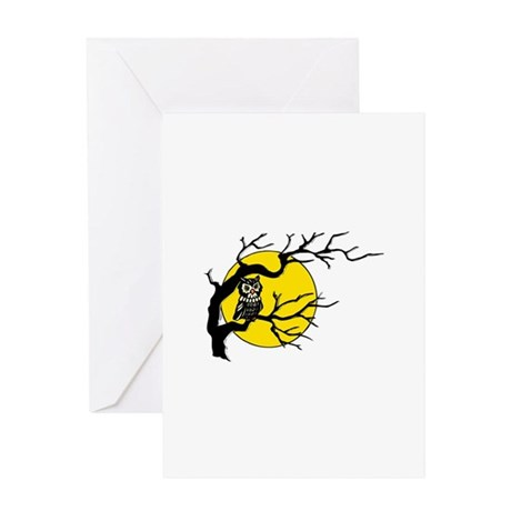 Harvest Moon Owl Greeting Card
