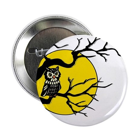 "Harvest Moon Owl 2.25"" Button"