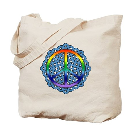 Celtic Knot Peace Symbol Tote Bag