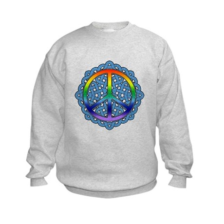 Celtic Knot Peace Symbol Kids Sweatshirt