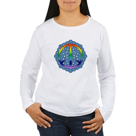 Celtic Knot Peace Symbol Women's Long Sleeve T-Shi