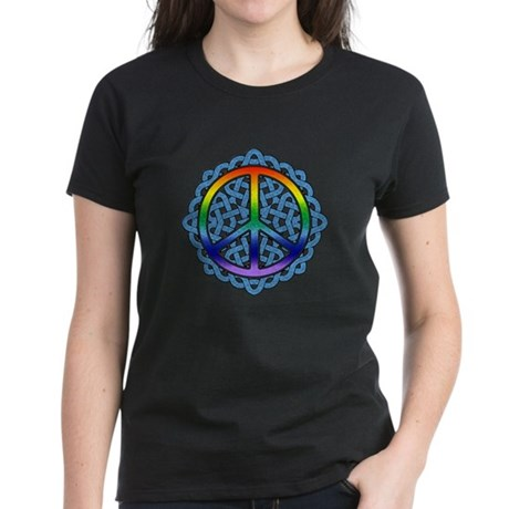 Celtic Knot Peace Symbol Women's Dark T-Shirt