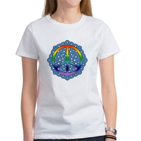 Celtic Knot Peace Symbol Women's T-Shirt