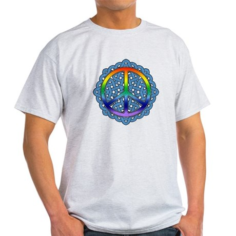 Celtic Knot Peace Symbol Light T-Shirt