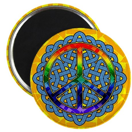 "Celtic Knot Peace Symbol 2.25"" Magnet (100 pack)"