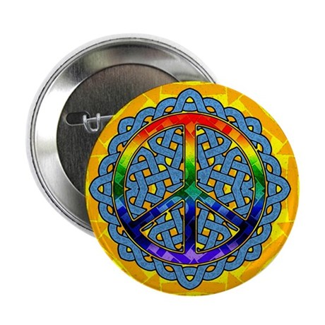 "Celtic Knot Peace Symbol 2.25"" Button (100 pack)"