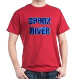 Shark Diver Text T-Shirt