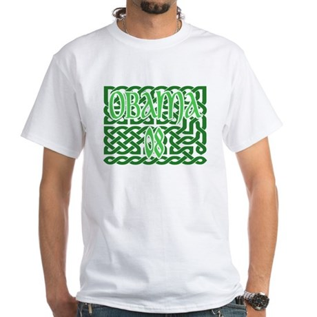 Obama Celtic Knotwork White T-Shirt