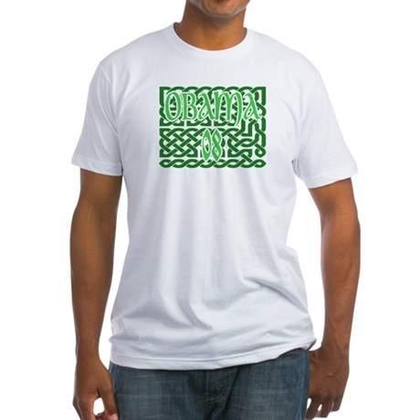 Obama Celtic Knotwork Fitted T-Shirt