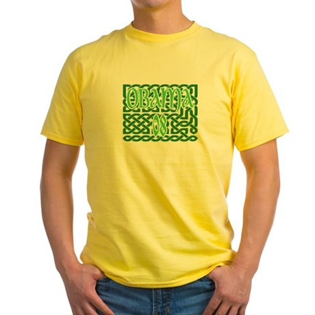 Obama Celtic Knotwork Yellow T-Shirt