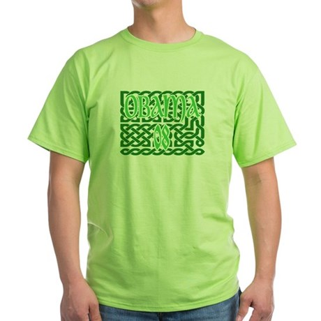 Obama Celtic Knotwork Green T-Shirt