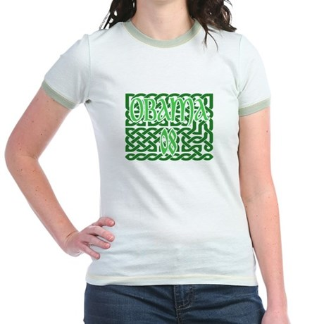 Obama Celtic Knotwork Jr. Ringer T-Shirt