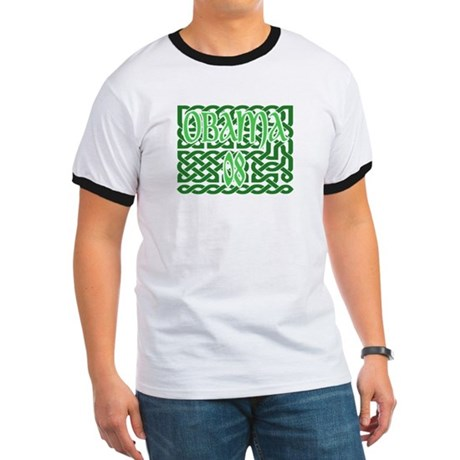 Obama Celtic Knotwork Ringer T