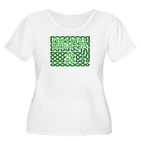 Obama Celtic Knotwork Women's Plus Size Scoop Neck