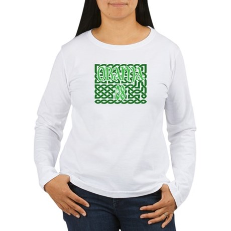 Obama Celtic Knotwork Women's Long Sleeve T-Shirt
