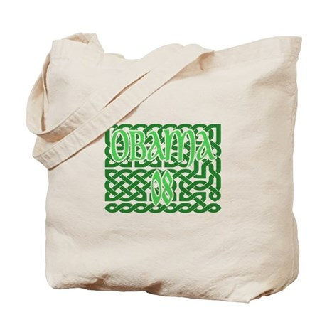 Obama Celtic Knotwork Tote Bag