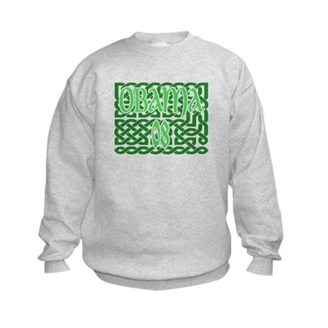 Obama Celtic Knotwork Kids Sweatshirt