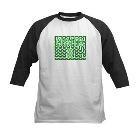 Obama Celtic Knotwork Kids Baseball Jersey