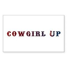 Cowgirl Up Rectangle Decal