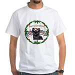 XmasMusic1MC/Skye Terrier White T-Shirt