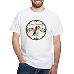 XmasMusic1MC/ Beagle White T-Shirt