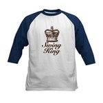 Swing King Swing Dancing Kids Baseball Jersey