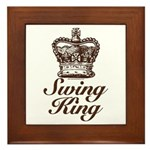 Swing King Swing Dancing Framed Tile