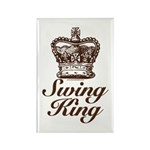 Swing King Swing Dancing Rectangle Magnet (100 pac