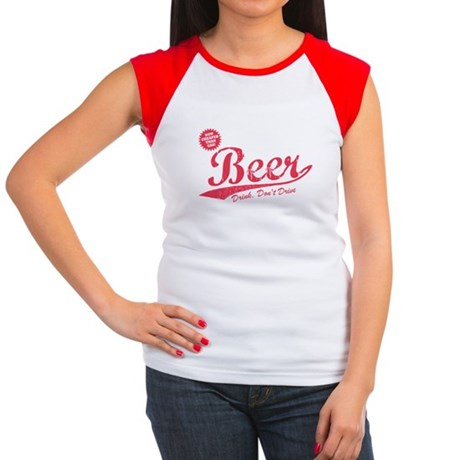 Beer, Cheaper Than Gas Womens Cap Sleeve T-Shirt