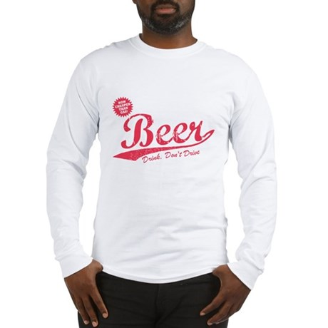 Beer, Cheaper Than Gas Long Sleeve T-Shirt