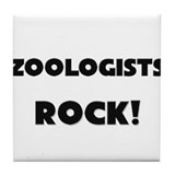 Zoologists ROCK Tile Coaster