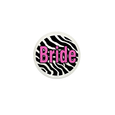 Bride (Zebra) Mini Button (10 pack)