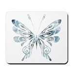 Blue Tribal Butterfly Tattoo Mousepad