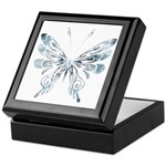 Blue Tribal Butterfly Tattoo Keepsake Box