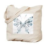Blue Tribal Butterfly Tattoo Tote Bag