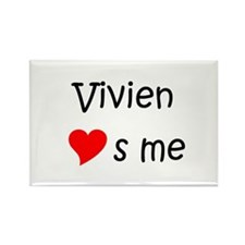 Cool Vivien Rectangle Magnet