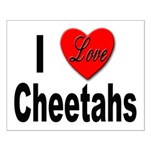 I Love Cheetahs for Cheetah Lovers Small Poster