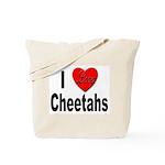 I Love Cheetahs for Cheetah Lovers Tote Bag