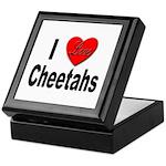 I Love Cheetahs for Cheetah Lovers Keepsake Box