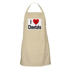 I Love Cheetahs for Cheetah Lovers BBQ Apron