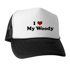 I Love My Woody Trucker Hat